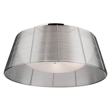 Artcraft San Jose 3 Light  Silver Flush Mount