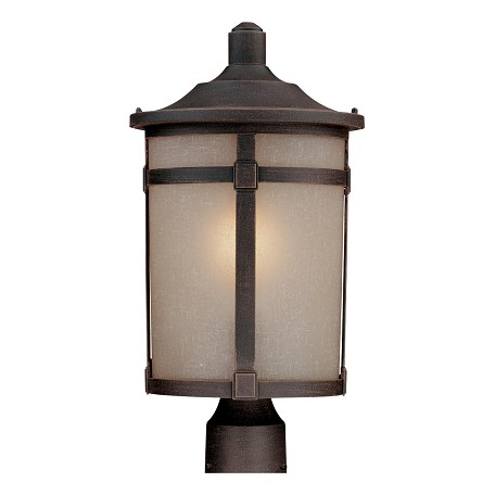 Artcraft St. Moritz 1 Light  Bronze Outdoor Post Light