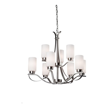 Artcraft Russell Hill 9 Light  Polished Nickel Chandelier