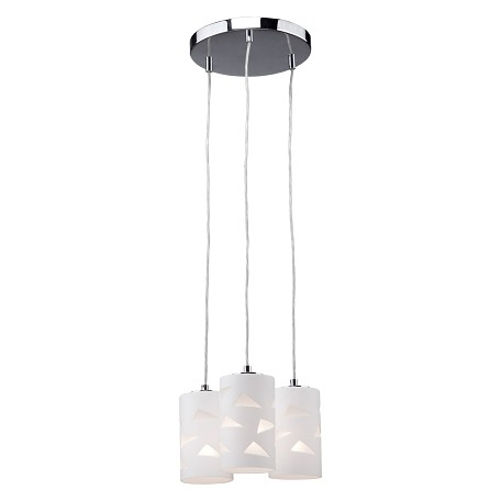 Artcraft Three Light Opal And Clear Glass Multi Light Pendant