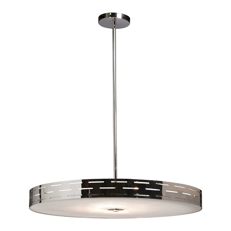 Artcraft Chrome 6 Light Down Lighting Pendant From The Seattle Collection