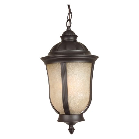 Craftmade Oiled Bronze Francès II 2 Light Lantern Outdoor Pendant - 9.5 Inches Wide