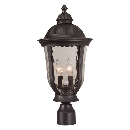 Craftmade Oiled Bronze Frances 3 Light Outdoor Post Light