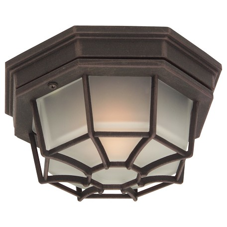 Craftmade Matte Black Bulkheads 1 Light Outdoor Ceiling Fixture