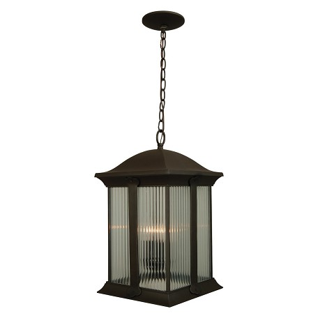 Craftmade Oiled Bronze Summit 3 Light Square Outdoor Pendant - 10.75 Inches Wide