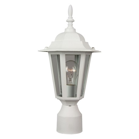 Craftmade Hex 1 Light Up Lighting Outdoor Post In White