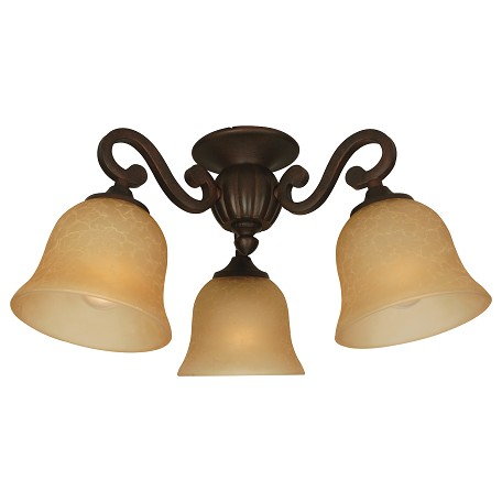 Craftmade Aged bronze Three Light Ceiling Fan Light Kit