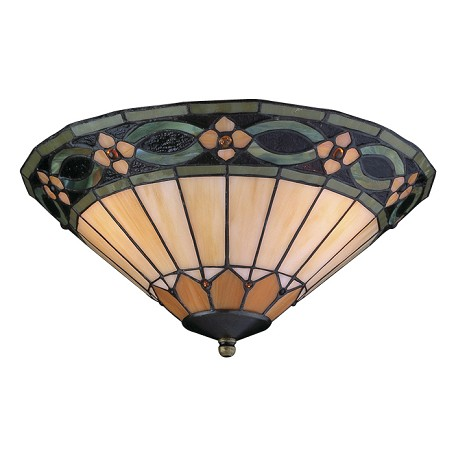 Craftmade Leaded Glass Two Light Compact Florescent Ceiling Fan Light Kit