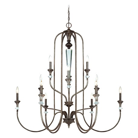 Craftmade Twelve Light Mocha Bronze Up Chandelier