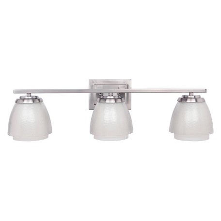 Craftmade Brush Nickel Piedmont 3 Light Indoor Wall Sconce - 28 Inches Wide
