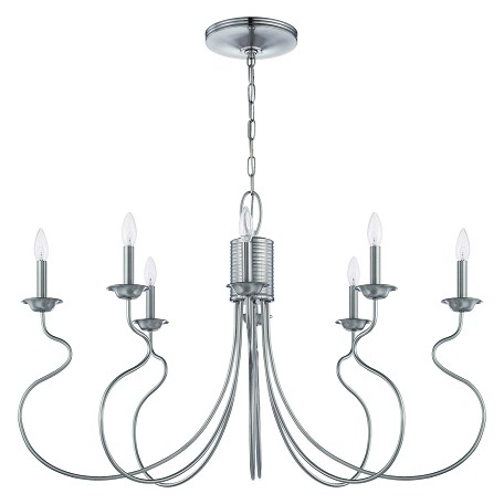 Craftmade Eight Light Brushed Nickel Island Light