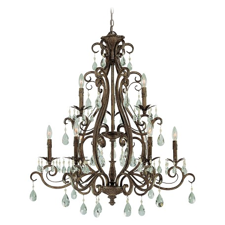 Craftmade Nine Light French Roast Up Chandelier