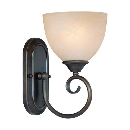 Faux Crystal Wall Sconces : Craftmade One Light Old Bronze Faux Alabaster Shade Bathroom Sconce Old Bronze 25301-OB From ...