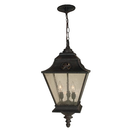 Craftmade Rust Chaparral 3 Light Lantern Outdoor Pendant - 11.5 Inches Wide
