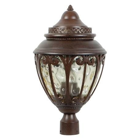 Craftmade Aged Bronze Olivier 3 Light Post Light