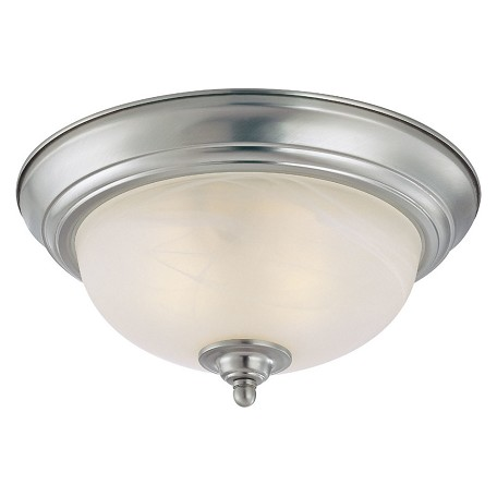 Craftmade One Light Satin Nickel Painted Glass Bowl Flush Mount
