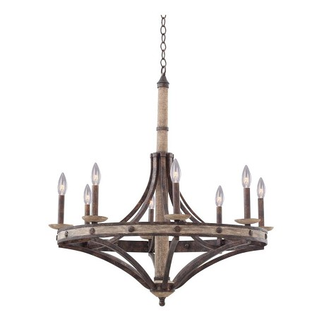 kalco florence gold coronado 8 light 1 tier chandelier