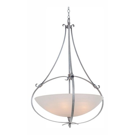 Kalco Flecked Iron Mateo 5 Light Bowl Pendant