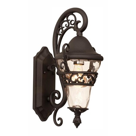 Kalco Textured Matte Black Anastasia Outdoor 1 Light Wall Sconce