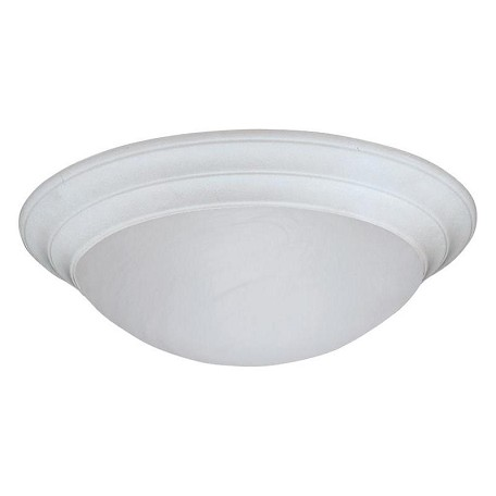 Designers Fountain White  2 Light 14in. Medium Size Flush Mount with White Alabaster Glass Shade