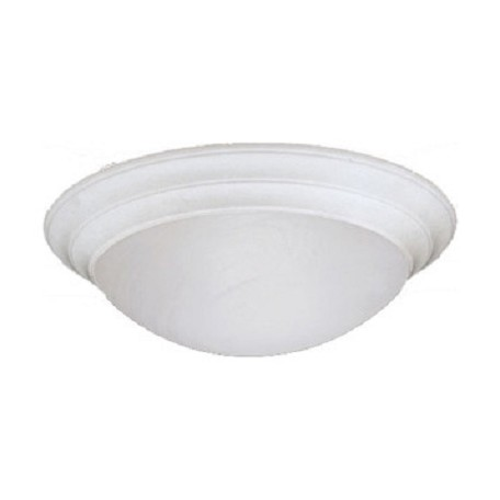 Designers Fountain White  4 Light 20in. Flush Mount with Alabaster Glass Shade