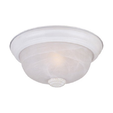 Designers Fountain White  2 Light 13.25in. Flush Mount with Alabaster Glass