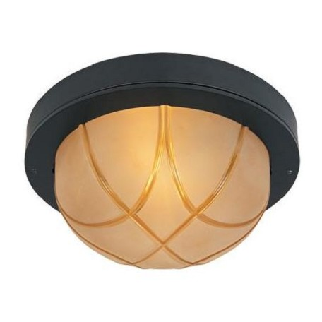 Designers Fountain Oil Rubbed Bronze Large Two Light Indoor And Outdoor Flush Mount