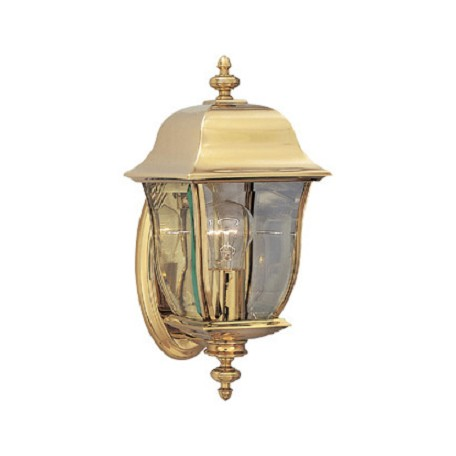 "Designers Fountain Polished Brass Pvd Finish 1 Light 6"" Wall Lantern Solid Brass Pvd"