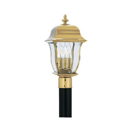 "Designers Fountain Polished Brass Pvd Finish 3 Light 10"" Post Lantern Solid Brass Pvd"