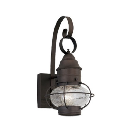 Designers Fountain Rustique 1 Light Outdoor 10in. Onion Wall Lantern from the Nantucket Collection