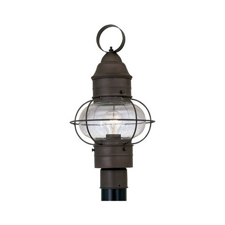 Designers Fountain Rustique 1 Light 10in. Onion Post Lantern from the Nantucket Collection