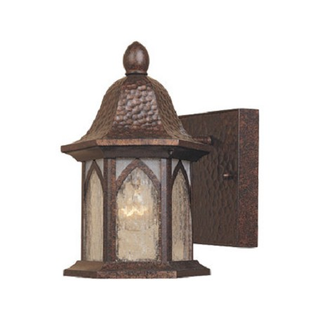 "Designers Fountain Burnished Antique Copper 1 Light 5.5"" Cast Aluminum Wall Lantern"