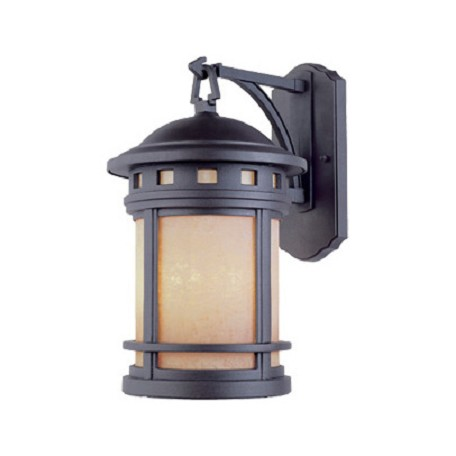 "Designers Fountain Oil Rubbed Bronze W/Amber 3 Light 9"" Cast Aluminum Wall Lantern"