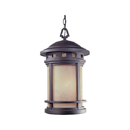 "Designers Fountain Oil Rubbed Bronze W/Amber 3 Light 11"" Cast Aluminum Hanging Lantern"