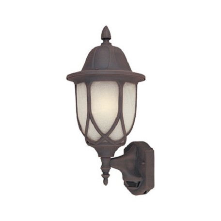 Designers Fountain Autumn Gold 1 Light 9in. Cast Aluminum Wall Lantern with Motion Detector