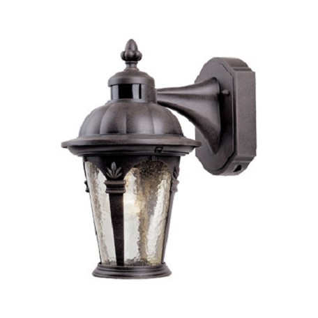Designers Fountain Autumn Gold 1 Light 7.5in. Cast Aluminum Wall Lantern with Motion Detector