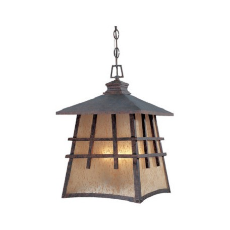 Designers Fountain Mediterranean Patina 4 Light 12in. Hanging Lantern from the Oak Park Collection