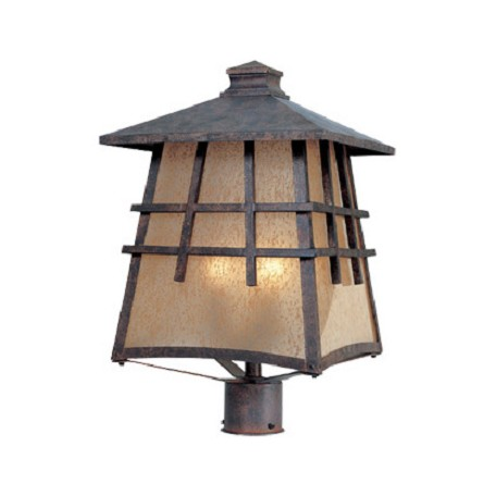 Designers Fountain Mediterranean Patina 4 Light 12in. Post Lantern from the Oak Park Collection