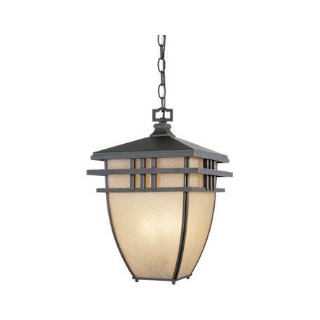 Designers Fountain Aged Bronze Patina 3 Light 10.75in. Hanging Lantern from the Dayton Collection