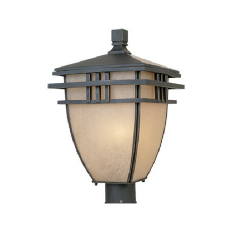 Designers Fountain Aged Bronze Patina 3 Light 10.75in. Post Lantern from the Dayton Collection