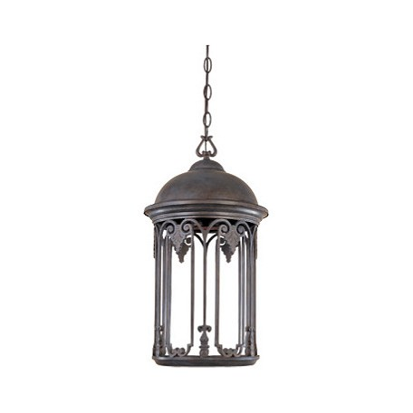 Designers Fountain Old Bronze 1 Light 11in. Hanging Lantern from the Dark Sky Barrington Collection