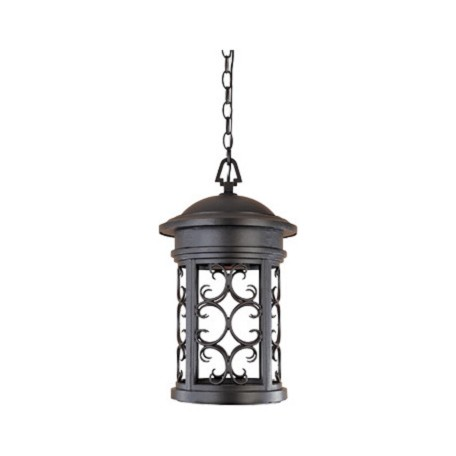 "Designers Fountain Oil Rubbed Bronze 1 Light 11"" Hanging Lantern"