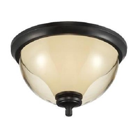 Designers Fountain Oil Rubbed Bronze Stockholm 2 Light Flush Mount Ceiling Fixture