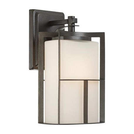 Designers Fountain Charcoal 1 Light 13in. Outdoor Wall Lantern from the Braxton Collection