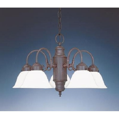 Designers Fountain Pewter 5 Light Chandelier from the Bistro Collection