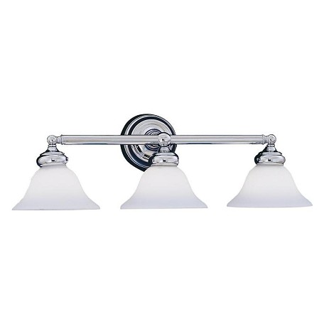 Designers Fountain Chrome 3 Light Bath Bar from the Opal Essence Collection
