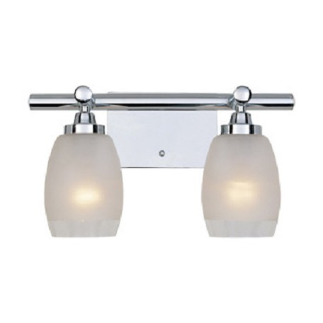 Designers Fountain Chrome 2 Light Bath Bar From The Astoria Collection Chrome