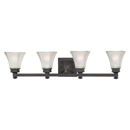 Designers Fountain Biscayne Bronze 4 Light Bathroom Fixture from the Canterbury Collection