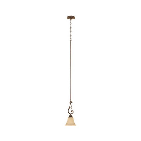 Designers Fountain Forged Sienna Single Light Down Lighting Mini Pendant Mendocino Collection