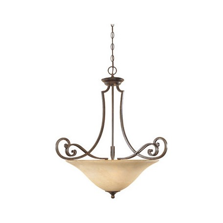 Designers Fountain Forged Sienna Three Light Down Lighting Bowl Pendant Mendocino Collection
